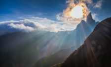 Landscape photo of beautiful sunrise on the mountain